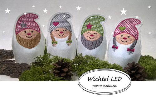Wichtel Stickdatei LED