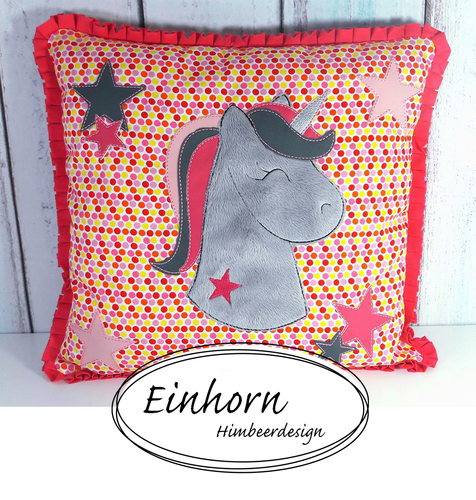 Einhorn Fransenapplikation SET