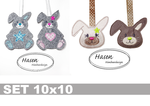 Hase ITH - Stickdatei 10x10