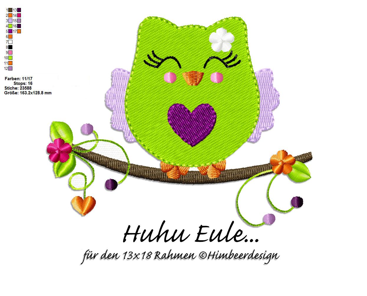 Eule Huhu 13 x 18 Rahmen